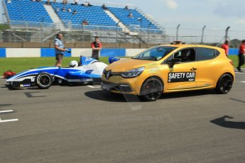 World © Octane Photographic Ltd. Protyre Formula Renault Championship. June 1st 2014.  Race 2 – Castle Donington.  Alex Gill - Fortec Motorsports and Renault Safety Car. Digital Ref : 0975CB1D8885