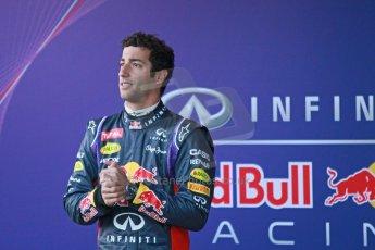 World © Octane Photographic Ltd. 2014 Formula 1 Winter Testing, Circuito de Velocidad, Jerez. Tuesday 27th January 2014. Day 1. Infiniti Red Bull Racing RB10 launch. Daniel Ricciardo. Digital Ref: 0885cb1d9220