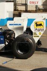 World © Octane Photographic Ltd. Senna Formula 1 car showcase filmed by Sky F1 at Donington Park race track. Tuesday 8th April 2014. Ex-Ayrton Senna Toleman TG184. Digital Ref : 0904lb1d9954