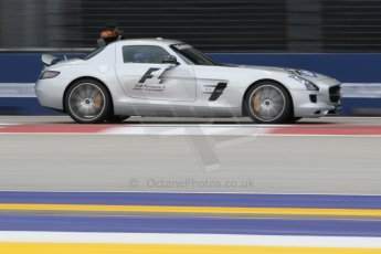 World © Octane Photographic Ltd. Saturday 20th September 2014, Singapore Grand Prix, Marina Bay. - Formula 1 Practice 3. Mercedes SLS AMG GT Safety Car. Digital Ref: