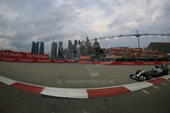 World © Octane Photographic Ltd. Saturday 20th September 2014, Singapore Grand Prix, Marina Bay. - Formula 1 Practice 3. Mercedes AMG Petronas F1 W05 – Lewis Hamilton. Digital Ref: