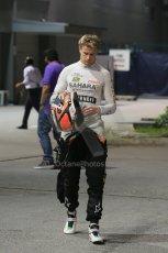 World © Octane Photographic Ltd. Saturday 20th September 2014, Singapore Grand Prix, Marina Bay. - Formula 1 Qualifying Paddock. Sahara Force India VJM07 – Nico Hulkenburg. Digital Ref : 1125LB1D2765
