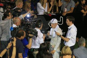 World © Octane Photographic Ltd. Saturday 20th September 2014, Singapore Grand Prix, Marina Bay. - Formula 1 Qualifying Paddock. Williams Martini Racing FW36 – Valtteri Bottas. Digital Ref: 1125LB1D2989