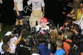 World © Octane Photographic Ltd. Saturday 20th September 2014, Singapore Grand Prix, Marina Bay. - Formula 1 Qualifying Paddock. Scuderia Ferrari F14T - Fernando Alonso. Digital Ref: 1125LB1D2995