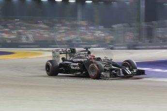 World © Octane Photographic Ltd. Saturday 20th September 2014, Singapore Grand Prix, Marina Bay. - Formula 1 Race outlap. McLaren Mercedes MP4/29 - Jenson Button. Digital Ref: 1127CB1D1009