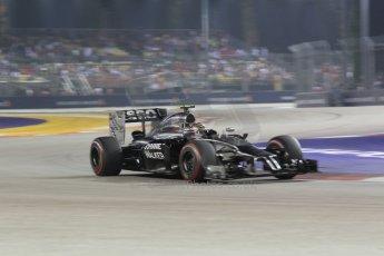 World © Octane Photographic Ltd. Saturday 20th September 2014, Singapore Grand Prix, Marina Bay. - Formula 1 Race outlap. McLaren Mercedes MP4/29 – Kevin Magnussen. Digital Ref: 1127CB1D1063