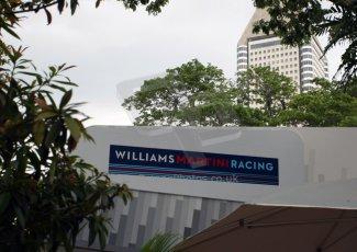 World © Octane Photographic Ltd. Saturday 20th September 2014, Singapore Grand Prix, Marina Bay. Formula 1 Paddock. Williams Martini Racing. Digital Ref: 1122CB1D8188