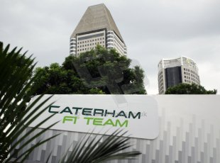 World © Octane Photographic Ltd. Saturday 20th September 2014, Singapore Grand Prix, Marina Bay. Formula 1 Paddock. Caterham F1 Team. Digital Ref: 1122CB1D8191