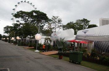 World © Octane Photographic Ltd. Saturday 20th September 2014, Singapore Grand Prix, Marina Bay. Formula 1 Paddock. Digital Ref: 1122CB1D8194