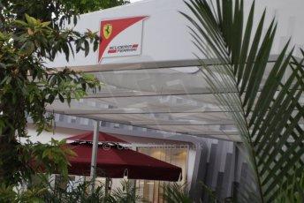 World © Octane Photographic Ltd. Saturday 20th September 2014, Singapore Grand Prix, Marina Bay. Formula 1 Paddock. Scuderia Ferrari. Digital Ref: 1122CB1D8196