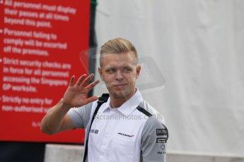 World © Octane Photographic Ltd. Saturday 20th September 2014, Singapore Grand Prix, Marina Bay. - Formula 1 Paddock. McLaren Mercedes MP4/29 – Kevin Magnussen. Digital Ref: 1122CB1D8248