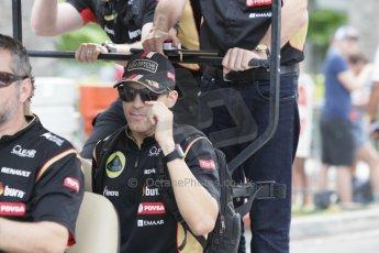 World © Octane Photographic Ltd. Saturday 20th September 2014, Singapore Grand Prix, Marina Bay. - Formula 1 Paddock. Lotus F1 Team E22 – Pastor Maldonado. Digital Ref: 1122CB1D8283