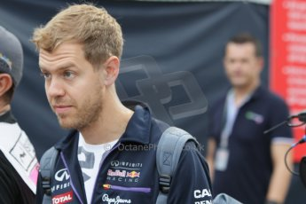 World © Octane Photographic Ltd. Saturday 20th September 2014, Singapore Grand Prix, Marina Bay. Formula 1 Paddock. Infiniti Red Bull Racing RB10 - Sebastian Vettel. Digital Ref: 1122CB1D8349