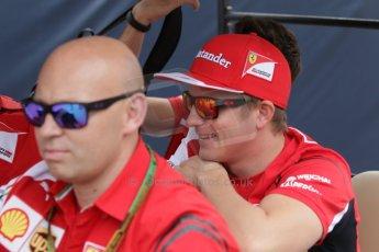 World © Octane Photographic Ltd. Saturday 20th September 2014, Singapore Grand Prix, Marina Bay. - Formula 1 Paddock. Scuderia Ferrari F14T – Kimi Raikkonen. Digital Ref: 1122CB1D8442