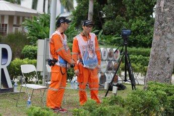 World © Octane Photographic Ltd. Saturday 20th September 2014, Singapore Grand Prix, Marina Bay. - Formula 1 Paddock. Speed trap on the paddock approach road. Digital Ref: 1122CB1D8542