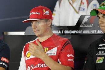 World © Octane Photographic Ltd. Thursday 18th September 2014, Singapore Grand Prix, Marina Bay. - Formula 1 Driver's conference. Scuderia Ferrari F14T – Kimi Raikkonen. Digital Ref: 1117CB1D6903