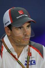 World © Octane Photographic Ltd. Thursday 18th September 2014, Singapore Grand Prix, Marina Bay. - Formula 1 Driver's conference. Sauber C33 – Adrian Sutil. Digital Ref: 1117LB1D8984