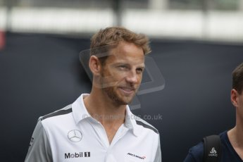 World © Octane Photographic Ltd. Thursday 18th September 2014, Singapore Grand Prix, Marina Bay. - Formula 1 Paddock. McLaren Mercedes - Jenson Botton. Digital Ref: 1116CB1D6756