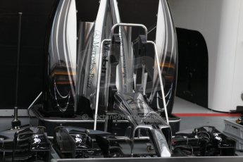 World © Octane Photographic Ltd. Wednesday 17th September 2014, Singapore Grand Prix, Marina Bay. Formula 1 Setup and atmosphere. McLaren Mercedes bodywork and noses. Digital Ref: 1115CB1D6460