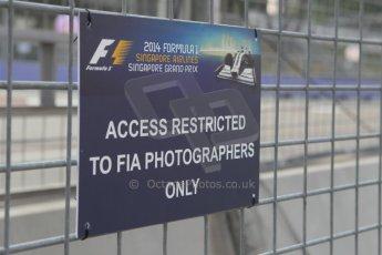 World © Octane Photographic Ltd. Wednesday 17th September 2014, Singapore Grand Prix, Marina Bay. Formula 1 Setup and atmosphere. Digital Ref: 1115CB1D6515