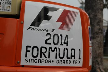 World © Octane Photographic Ltd. Wednesday 17th September 2014, Singapore Grand Prix, Marina Bay. Formula 1 Setup and atmosphere. Digital Ref: 1115CB1D6517