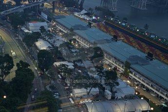 World © Octane Photographic Ltd. Wednesday 17th September 2014, Singapore Grand Prix, Marina Bay. Formula 1 Setup and atmosphere. The paddock and turn 5. Digital Ref: 1115CB6644