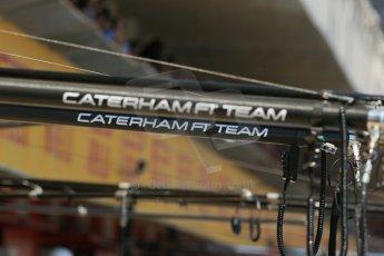 World © Octane Photographic Ltd. Friday 9th May 2014. Circuit de Catalunya - Spain - Formula 1 Practice 2 pitlane. Caterham F1 Team. Digital Ref: