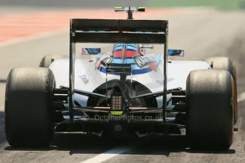 World © Octane Photographic Ltd. Friday 9th May 2014. Circuit de Catalunya - Spain - Formula 1 Practice 2 pitlane. Williams Martini Racing FW36 – Valtteri Bottas Digital Ref: