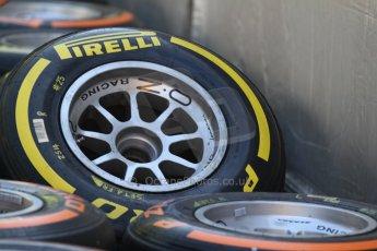 World © Octane Photographic Ltd. Friday 9th May 2014. GP2 Pirelli tyre choice. Digital Ref : 0927cb7d8723