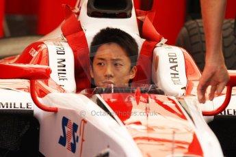 World © Octane Photographic Ltd. Friday 9th May 2014. GP2 Practice – Circuit de Catalunya, Barcelona, Spain. Takuya Izawa - ART Grand Prix. Digotal Ref : 0927cb7d8733