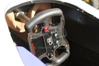 World © Octane Photographic Ltd. Friday 9th May 2014. GP3 steering wheel. Digital Ref : 0927cb7d8758