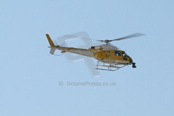 World © Octane Photographic Ltd. Friday 9th May 2014. F1 GP2 GP3 television helicopter. Digital Ref : 0927cb7d8838