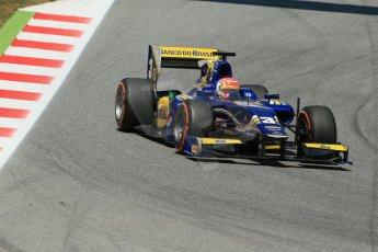World © Octane Photographic Ltd. Friday 9th May 2014. GP2 Practice – Circuit de Catalunya, Barcelona, Spain. Felipe Nasr - Carlin. Digital Ref : 0927lb1d4623