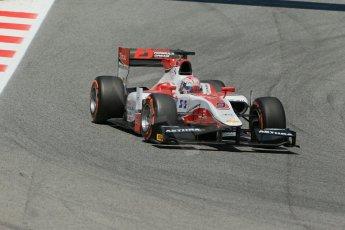 World © Octane Photographic Ltd. Friday 9th May 2014. GP2 Practice – Circuit de Catalunya, Barcelona, Spain. Takuya Izawa - ART Grand Prix. Digital Ref : 0927lb1d4644