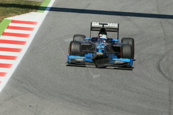 World © Octane Photographic Ltd. Friday 9th May 2014. GP2 Practice – Circuit de Catalunya, Barcelona, Spain. Nathanael Berthon - Venezuela GP Lazarus. Digital Ref : 0927lb1d4668