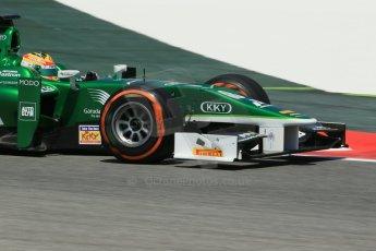 World © Octane Photographic Ltd. Friday 9th May 2014. GP2 Practice – Circuit de Catalunya, Barcelona, Spain. Rio Haryanto - EQ8 Caterham Racing. Digital Ref : 0927lb1d4740