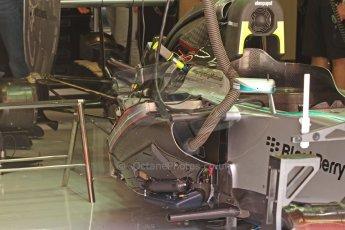 World © Octane Photographic Ltd. Friday 9th May 2014. Circuit de Catalunya - Spain - Formula 1 Practice 1 pitlane. Mercedes AMG Petronas F1 W05 Hybrid. Digital Ref: