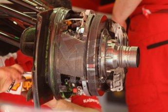 World © Octane Photographic Ltd. Friday 9th May 2014. Circuit de Catalunya - Spain - Formula 1 Practice 1 pitlane. Scuderia Ferrari F14T. Digital Ref: