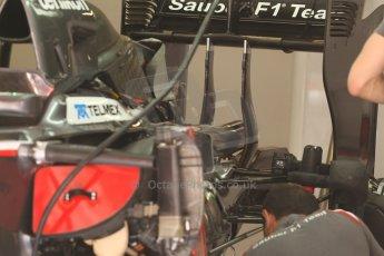 World © Octane Photographic Ltd. Friday 9th May 2014. Circuit de Catalunya - Spain - Formula 1 Practice 1 pitlane. Sauber C33. Digital Ref: