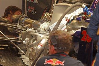 World © Octane Photographic Ltd. Friday 9th May 2014. Circuit de Catalunya - Spain - Formula 1 Practice 1 pitlane. Scuderia Toro Rosso STR9. Digital Ref: