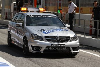 World © Octane Photographic Ltd. Friday 9th May 2014. Circuit de Catalunya – Barcelona, Spain. F1 Practice 1Pitlane - Mercedes AMG C63 Medical Car. Digital Ref :
