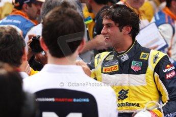 World © Octane Photographic Ltd. Saturday 10th May 2014. GP2 Race 1 Parc Ferme – Circuit de Catalunya, Barcelona, Spain. Felipe Nasr - Carlin (3rd). Digital Ref :