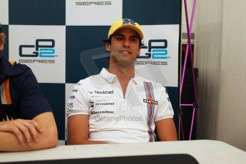 World © Octane Photographic Ltd. Saturday 10th May 2014. GP2 Race 1 Press conference – Circuit de Catalunya, Barcelona, Spain. Felipe Nasr - Carlin (3rd). Digital Ref :