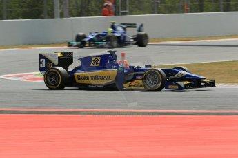 World © Octane Photographic Ltd. Saturday 10th May 2014. GP2 Race 1 – Circuit de Catalunya, Barcelona, Spain. Felipe Nasr - Carlin. Digital Ref :