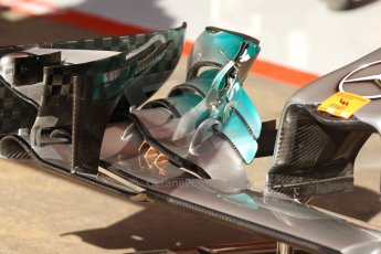 World © Octane Photographic Ltd. Saturday 10th May 2014. Circuit de Catalunya - Spain - Formula 1 Practice 3. Mercedes AMG Petronas F1 W05 Hybrid - Front wing details. Digital Ref: 0935cb7d9597