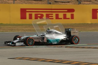 World © Octane Photographic Ltd. Saturday 10th May 2014. Circuit de Catalunya - Spain - Formula 1 Practice 3. Mercedes AMG Petronas F1 W05 Hybrid – Lewis Hamilton. Digital Ref: 0935lb1d3486