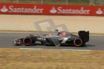 World © Octane Photographic Ltd. Saturday 10th May 2014. Circuit de Catalunya - Spain - Formula 1 Practice 3. Sauber C33 – Adrian Sutil. Digital Ref: 0935lb1d3585