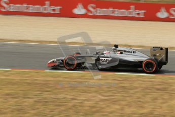 World © Octane Photographic Ltd. Saturday 10th May 2014. Circuit de Catalunya - Spain - Formula 1 Practice 3. McLaren Mercedes MP4/29 - Jenson Button. Digital Ref: 0935lb1d3625