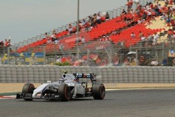 World © Octane Photographic Ltd. Saturday 10th May 2014. Circuit de Catalunya - Spain - Formula 1 Practice 3. Sahara Force India VJM07 – Nico Hulkenburg. Digital Ref : 0935lb1d3699