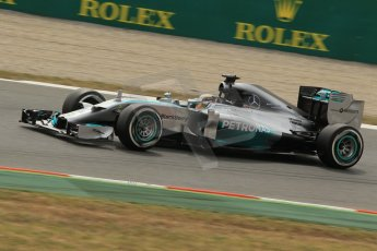 World © Octane Photographic Ltd. Saturday 10th May 2014. Circuit de Catalunya - Spain - Formula 1 Practice 3. Mercedes AMG Petronas F1 W05 Hybrid - Nico Rosberg. Digital Ref: 0935lb1d3884